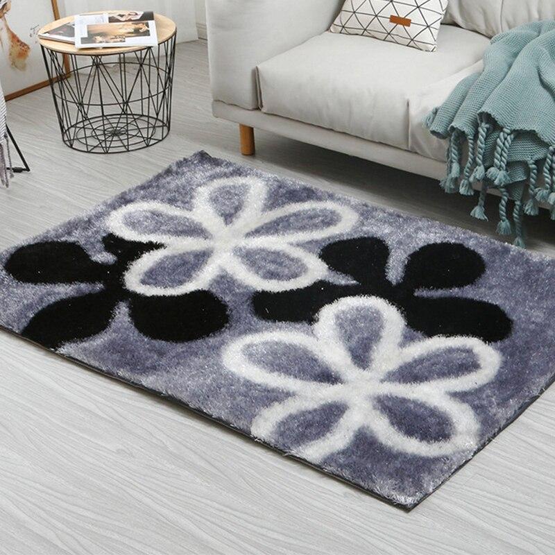 Soie coréenne 20 MM épaisseur tapis modernes pour salon doux moelleux tapis en peluche pour chambre chevet tapis enfants chambre tapis de sol