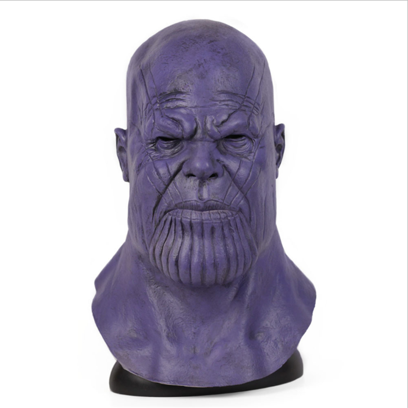 End Game Movie Helmet Superhero Halloween Party Realistic Thanos Cosplay Costume Infinity War Gloves Latex Mask Props