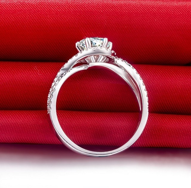 Royal Design Fantastic Super Star Love Best Style 1 Carat Real NSCD Lovely Diamond Engagement Wedding Ring