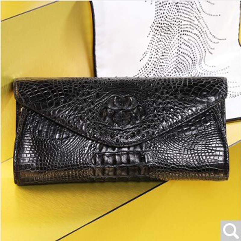 Bev New Alligator leather handbag leather hand bag European and American celebrities Banquet fashion single shoulder bag multi-w