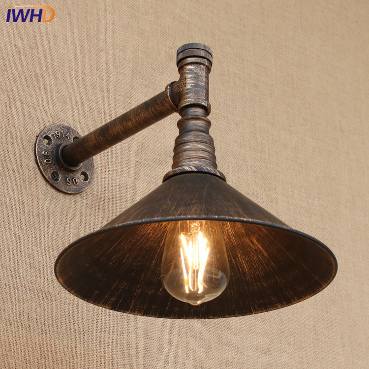 где купить E27 Vintage Industrial Wall Lamp Loft Water Pipe Lamps Sconce Balcony Stair Porch Restaurant Bar Bedroom Wall Light Home Light дешево