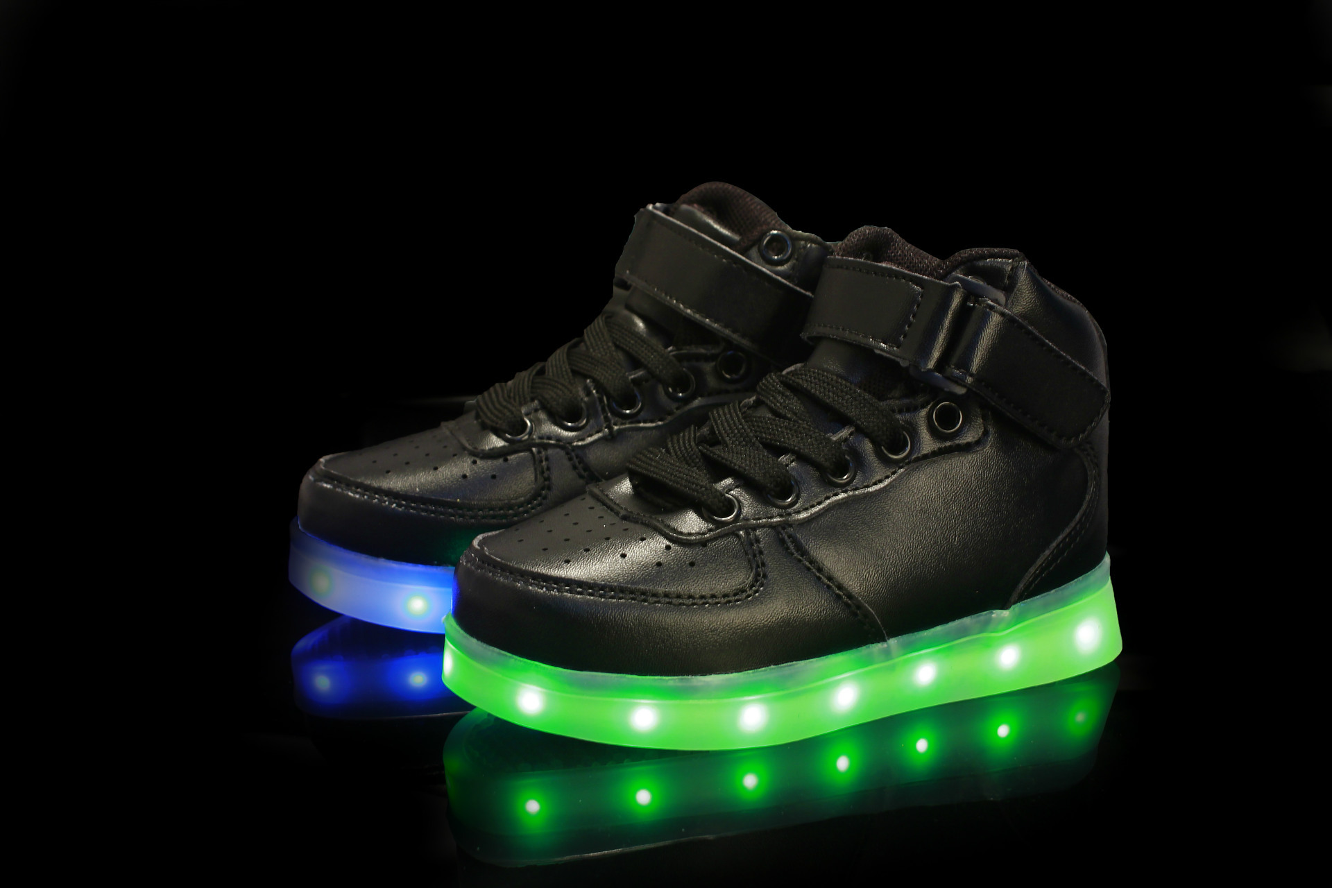 89f0bd87a Size 25 37   USB Charging Basket Led High Top Children Shoes With ...