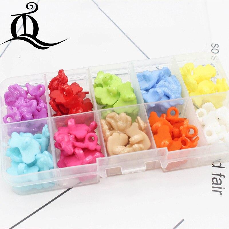 US $2.42  Snoep kleur 100 stks mix banaan Plastic Knop sluiting fabriek groothandel modellen modellen Plastic knoppen 14mm naaien leveringen in Knopen