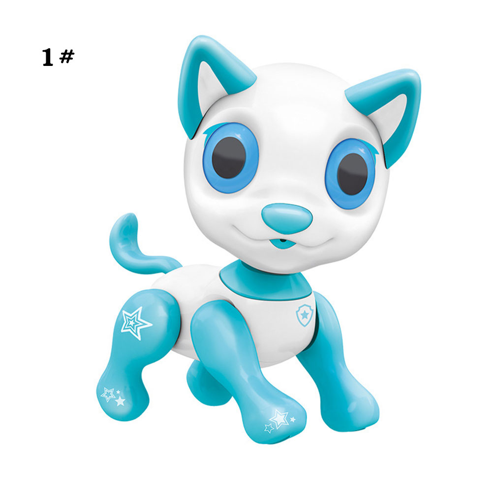 Сенсорный ответ пластиковый Умный щенок электронный питомец собака образовательный Декор Новинка разговор Крытый пазл крутой робот собака красивая - Цвет: blue