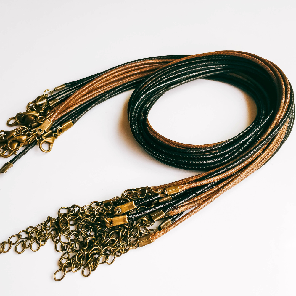 Handmade Leather Cord Chain for Jewelry Finding 20pcs/lot