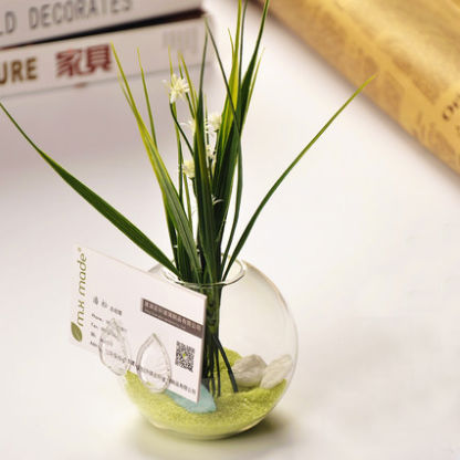 O.RoseLif Decorative Flower Vase With Business Card Holder Office Birthday Party Decorations Kids Wedding Fish Tank