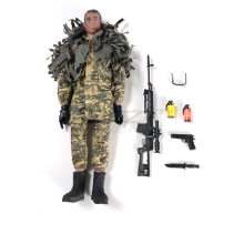 1:6 28cm Soldiers 11 Joint Movable Action Figure Send Weapon Sniper Rifle Camouflage Chothes Finished Goods Figures Gift Toy