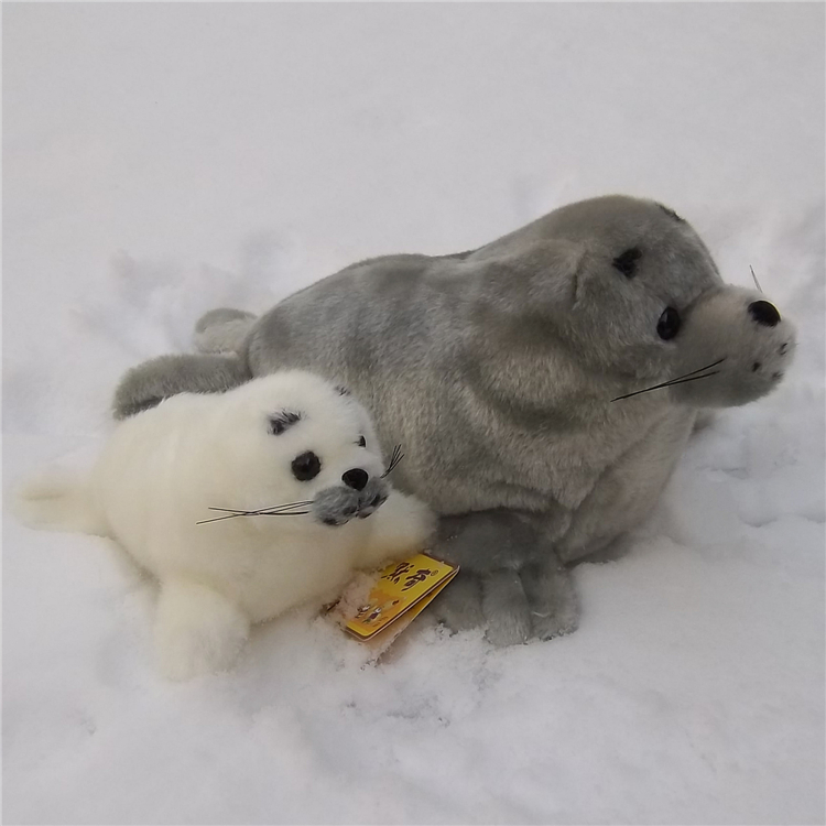 Marine animal large 45cm seal plush toy soft doll, birthday gift b4847 middle lovely plush high quality seal toy cute white seal doll gift about 35cm