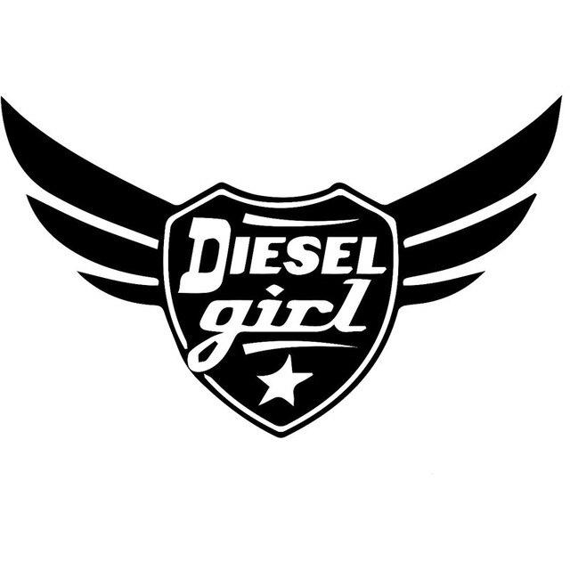 20x12 4 Cm Diesel Madchen Winged Roll Kohle Originalitat Vinyl