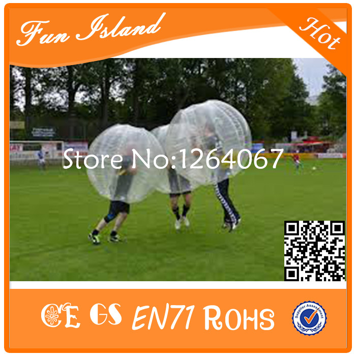 Free Shipping 0 8mm PVC Inflatable Bumper Ball Bubble Soccer For Football Game