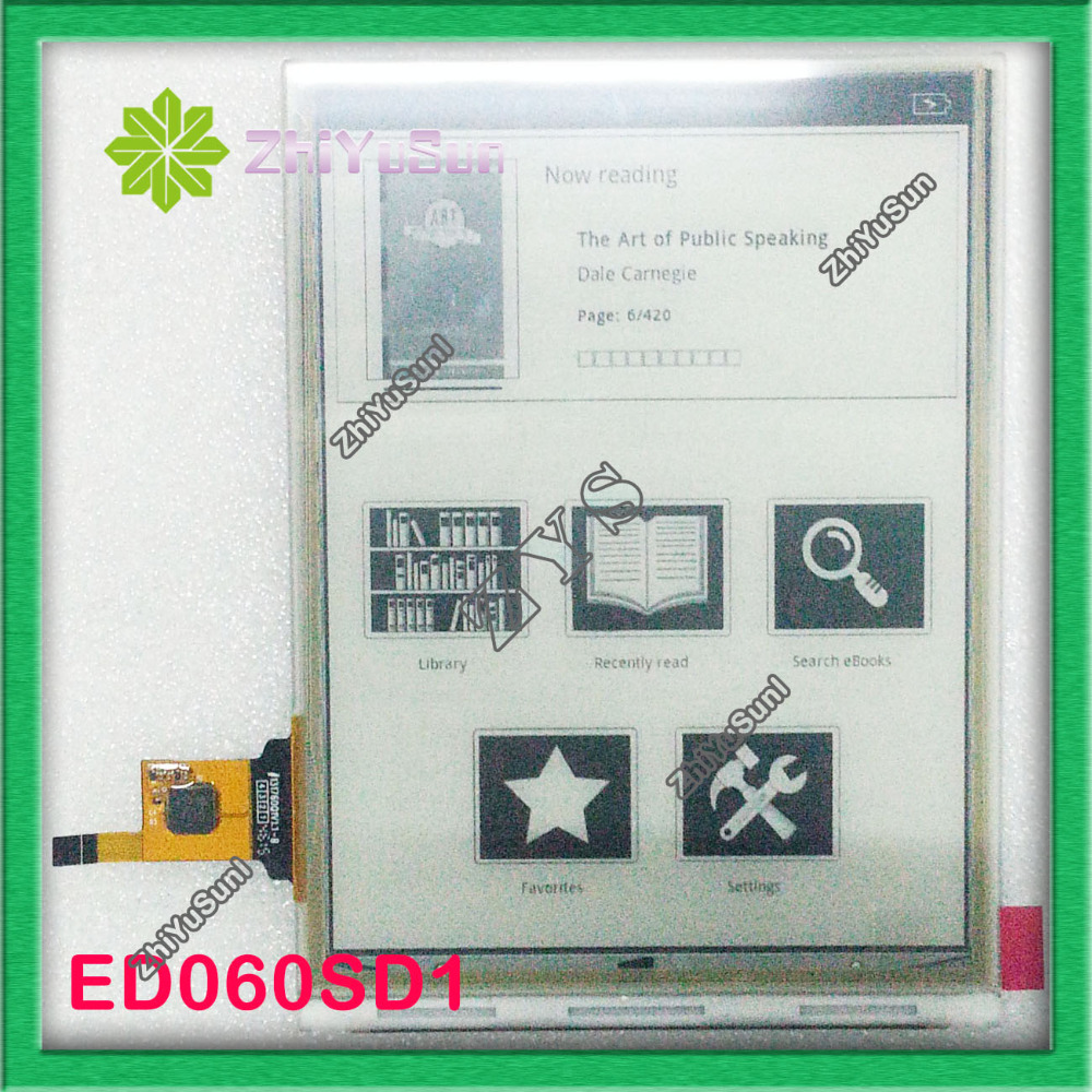 100% New original 6 inch touch screen ED060SD1 T1-TA for E-Book Touch Screen Panel + LCD Display, Without Backlight new original lcd display screen for canon eos 750d ds126571 kiss x8i rebel t6i mini slr with backlight and outer touch screen