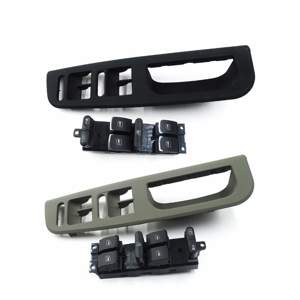 Black Master Window Switch Control Panel Trim Bezel For VW Passat Jetta Golf MK4 Skoda Supreb1998-2004 3B1867171E 1J4959857B