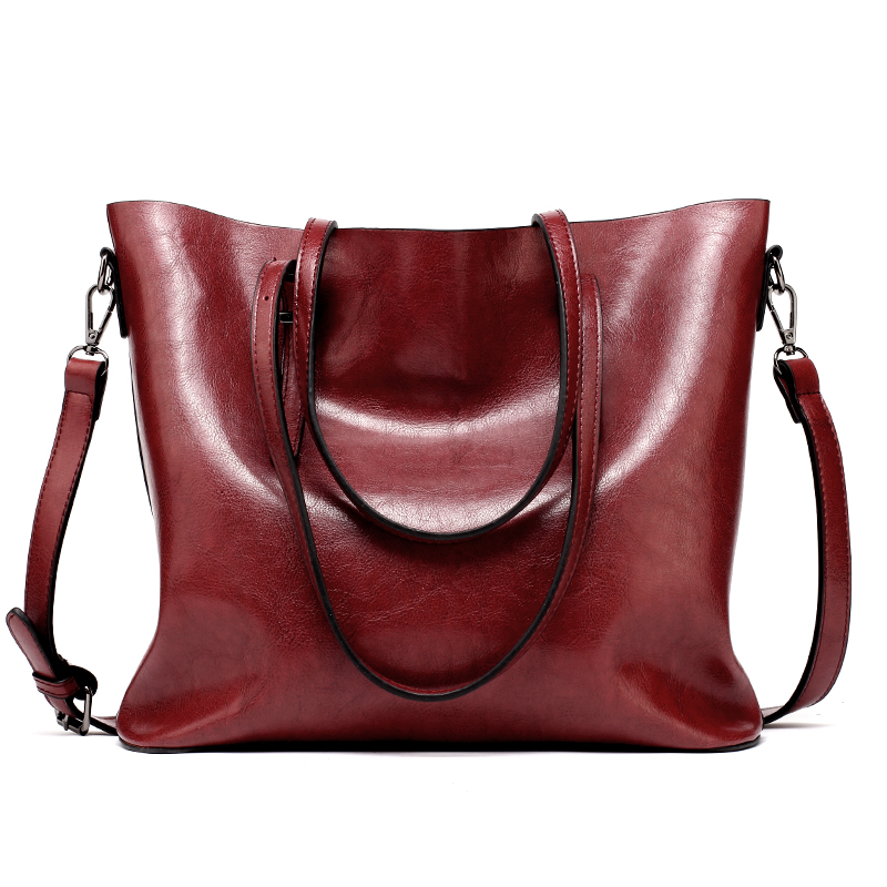 ... Lady Large Tote Bag Female Pu Shoulder Bags Bolsas Femininas Sac A Main  Brown Black Red. -32%. 🔍. 1  2 52259667e36a