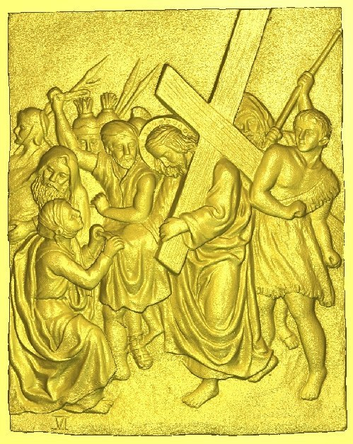 New 3D models relief  for cnc in RLF file format Jesus all scenes way of the cross(Include 6 files) christian cross 3d model relief figure stl format religion 3d model relief for cnc in stl file format