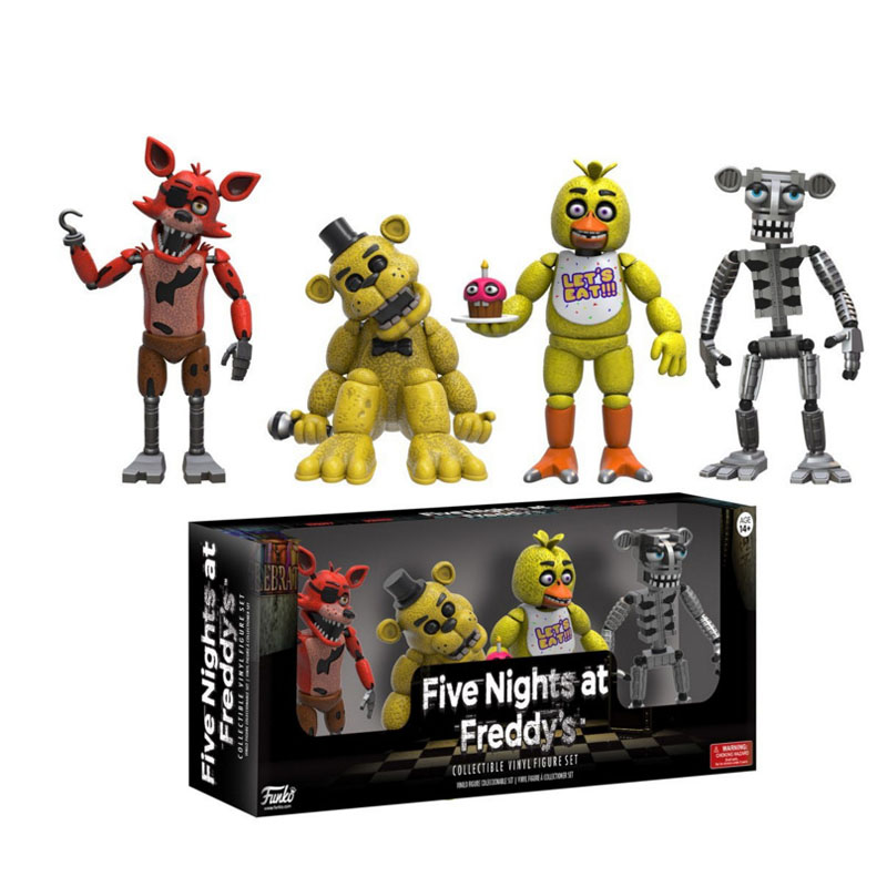 Five Night At Freddy's FNAF Action Figures Toys Foxy Freddy FNAF PVC Figure FUNKO Teddy Bear's Dolls Toys For Children Kids