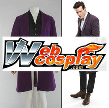 Who Doctor Eleven Doctors Dark Purple Frock Coat