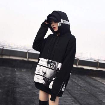 Women Hoodies Hip Hop Fashion Headwear Sweatshirts Women Hoodie Us size S-XL