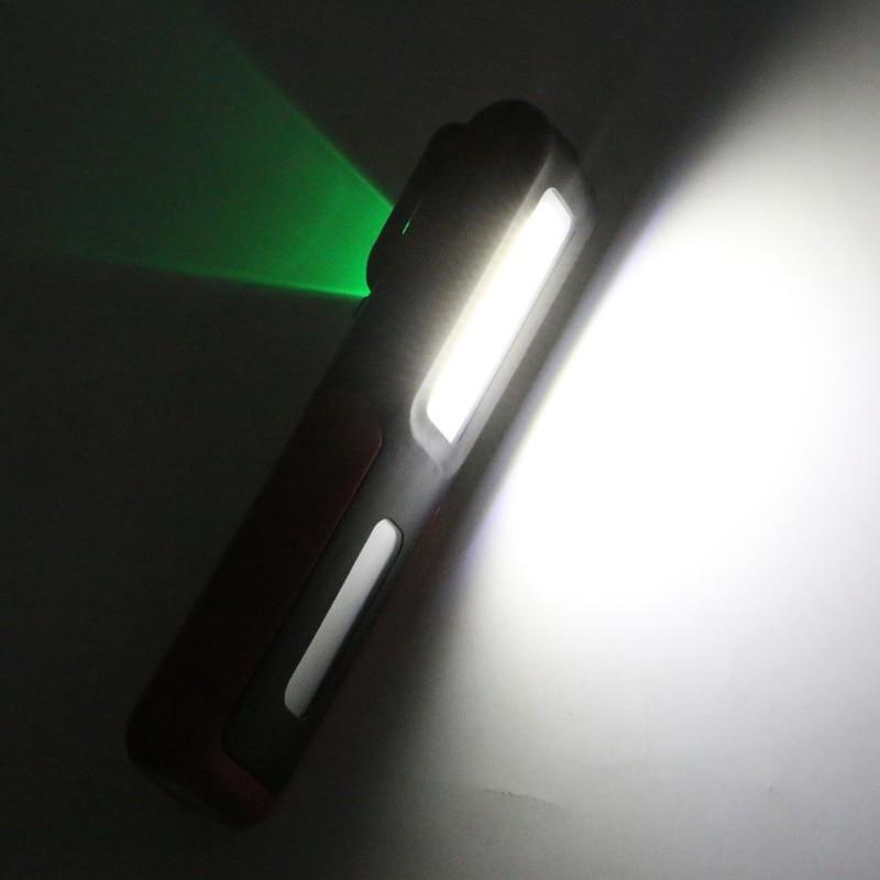 USB rechargeable LED flashlight magnetic Portable Lamp Night Work Lighting