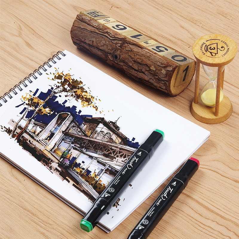 30 feuilles A5 aquarelle carnet de croquis dessin cahier blanc papier marqueur Pad Cuaderno école papeterie bloc-notes Notitieboek