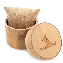 Round Bamboo Box For Wrist Watch