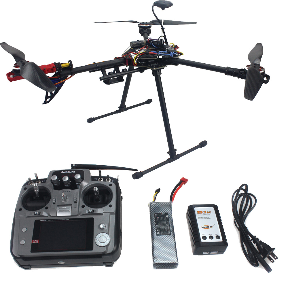 RTF Full Kit HMF Y600 Tricopter 3 Axis Copter Hexacopter APM2.8 GPS Drone with Motor ESC AT10 TX&RX F10811-E f10811 hmf y600 tricopter 3 axle copter frame kit w high landing gear