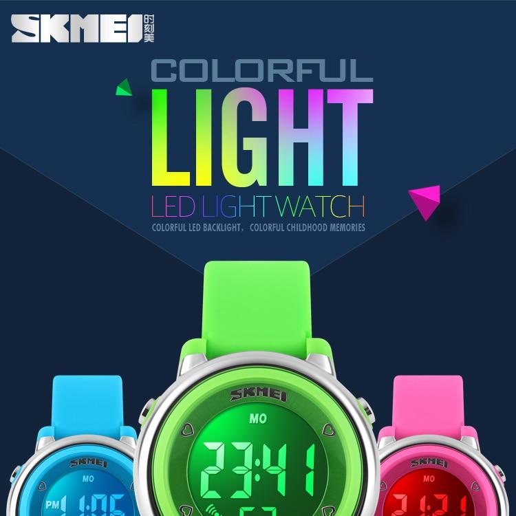 Skmei Brand Led Bracelet Watch Sports Mens Watches Waterproof Calendar Student Wristband Digital Childrens Wristwatch Relogio Watches