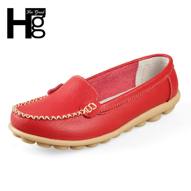 HEE GRAND 2017 New Artificial Leather Women Shoes Causal Soft Woman's Flats Female Moccasins Sapatilhas Femininos XWD329