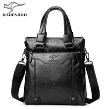 Badenroo New Male Shoulder Crossbody Bags Men Leather Messenger Bags Brand Designer Handbags Fashion Casual Business Flap Bags high end vegetable leather bags full grain cattle hide single shoulder bags business casual men male soft messenger bags xw6205