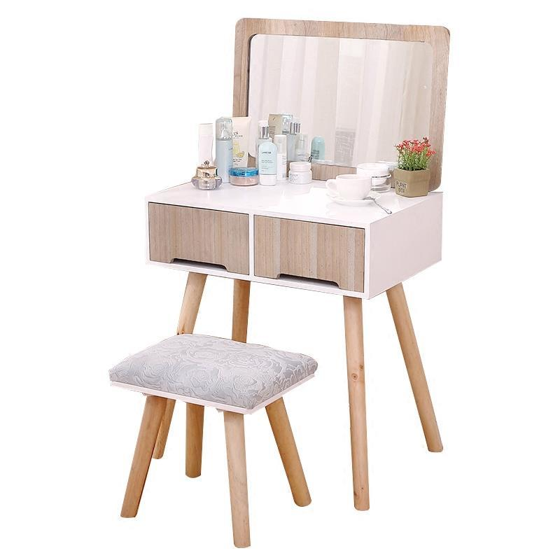 Nordic dresser bedroom small size mini simple modern multi-function Japanese-style make-up table home desk cut the nordic modern minimalist dresser bedroom flip multi functional dressing small apartment mini make up table