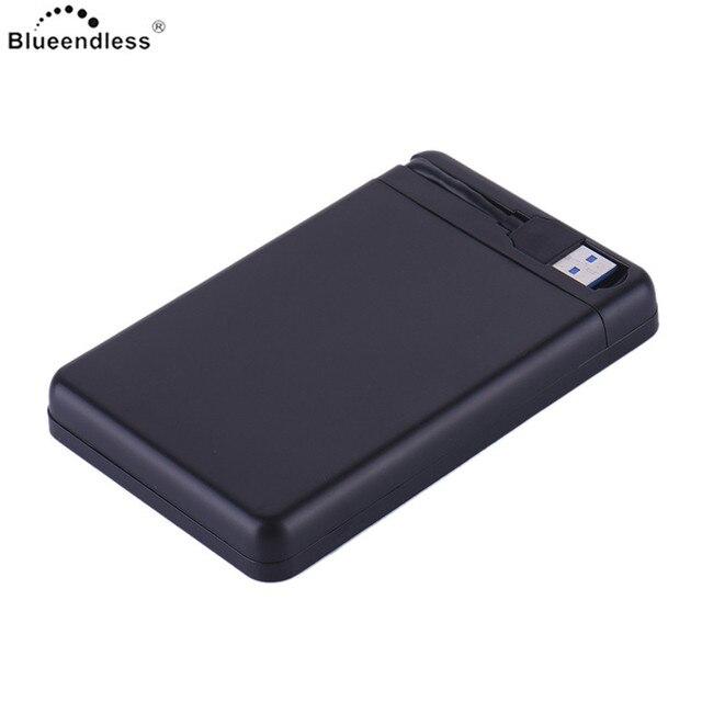 Blueendless без инструментов hdd корпус USB 3.0 type C hdd Корпус sata пластиковые переноски для 1 ТБ жесткий водитель использования на os/windows 7/XP
