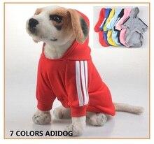 10 Piece / Pack Whole sale Dog Clothes Pets Coats Soft Cotton Puppy Dog Clothes Adidog Clothes For Dog Autumn Pet Products