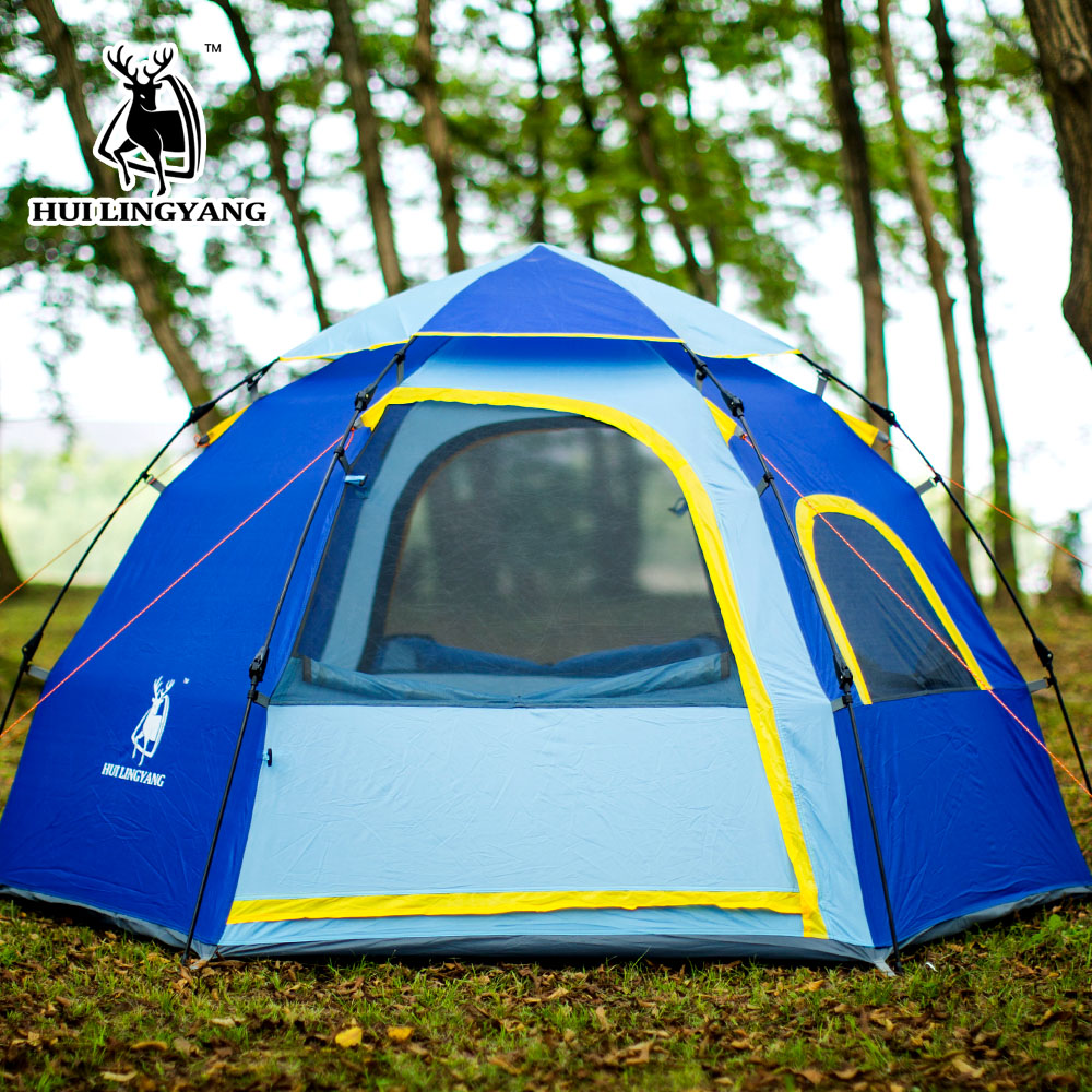Instant Family Tent 3-4 Person Large Automatic Pop Up Waterproof for Outdoor Sports Camping Hiking Travel Beach Tents barraca.