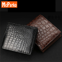 McParko crocodile leather wallet men Luxury genuine leather small wallet for men Real alligator skin short purse bifold brown