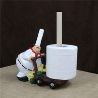 Fat Cook Figurine Tissue Stand Decor Chef Bathroom Paper Dispenser Napkin Holder Daily Life Houseware Facilities Ornament Craft