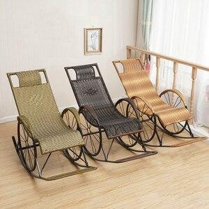 Criativo reclinável casa idosos cadeira de balanço sala estar varanda cadeira vime adulto ao ar livre fácil cadeira wf601943|Cadeiras de praia| |  -
