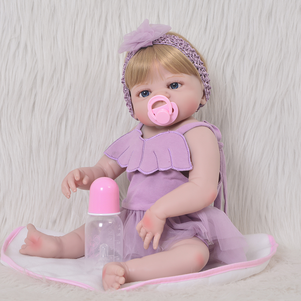 Lovely 23 Reborn Bonecas KEIUMI Handmade Full Silicone Vinyl Reborn Baby Girl Dolls Cute Stuffed Doll For Kids Birthday Gifts