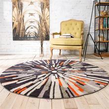 Скандинавские стильные ковры для гостиной, для дома, коврики для спальни, Хрустальный бархатный коврик для стола, компьютерный стул, круглый ковер