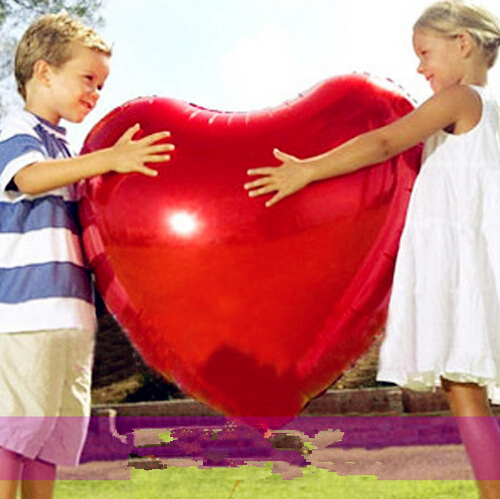 2017 New Super Large 30inch Foil Heart Balloon Float air balls baloons Wedding birthday party decoration Kids Inflatable Toys