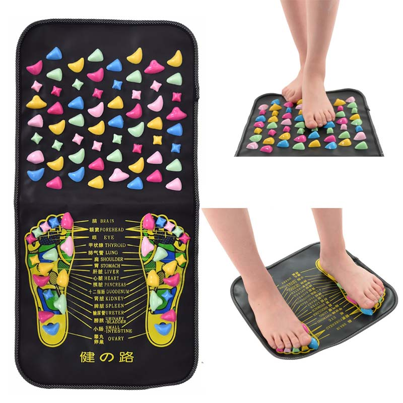 Leg Foot Massage Pad mat Pain Relief Stone Massager Mat Walk Muscle Stimulator Health Mattress Home Relaxation Health Care tool reflexology walk cobblestone pain relief foot massager tcm foot acupoint massage relax mat pad square cushion beauty health care