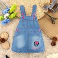 [Bosudhsou] Jeans Skirt Baby Girl Denim Skirt Cute Cat Girls Denims Suspenders Overalls Children Clothing 1-4 Y cartoon Skirt