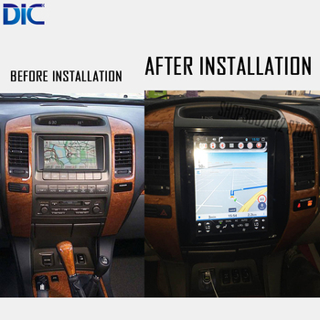 DLC Android system For lexus GX470 2004-2009 Navigation GPS car player Video 10.4 inches auto radio Steering-Wheel bluetooth 21035 lego