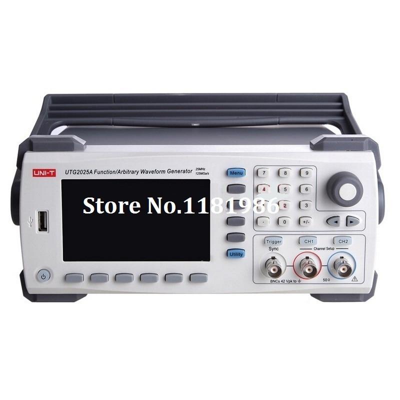 UNI-T UTG2025A 25 MHz USB double canal fonction de Signal générateur de forme d'onde arbitraire 200MSa/s 4.3 ''TFTLCD Arb. Profondeur de mémoire 1 M