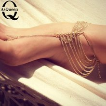 European and American Summer Accessories Fashion feet Jewelry Multilayer Chain Mittens Anklets for Women