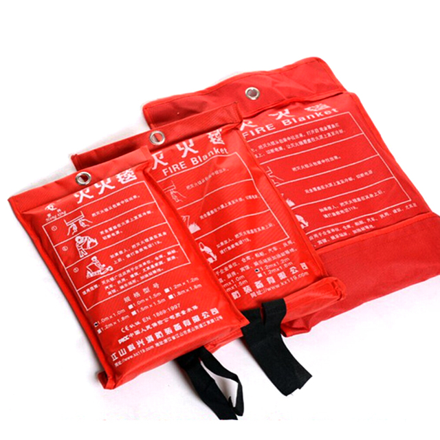 1m x 1m Fire Blanket Emergency Survival Fire Shelter Safety Protector for Home and Outdoor first aid Blanket FC