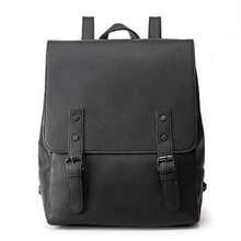 NEW-Ladies Backpack Large Girl Shoulder Bag Retro Pu Leather Casual Solid