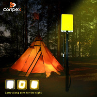 led work light rechargeable Camping tent portable spotlight cob plywood searchlight Telescopic rod for road trip BBQ Party