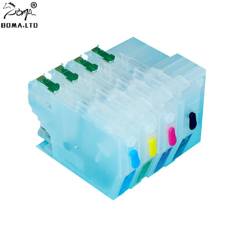 BOMA. LTD LC3017 3017 MFC J5330DW J6530DW J6730DW J6930DW LC3017 Com Uma vezes Chip de Recarga De Cartucho de Impressora Para O Irmão