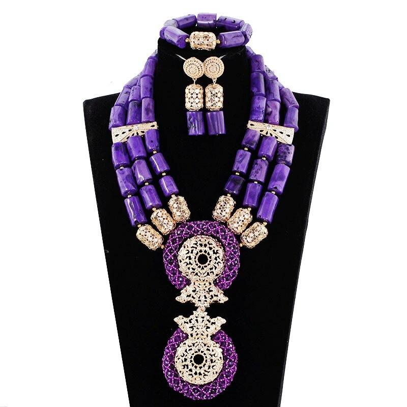 Здесь продается  2017 Coral Purple Wedding Coral Beads Nigerian Jewelry Set African Traditional Wedding Coral Costume Women Jewelry Set ABH573  Ювелирные изделия и часы