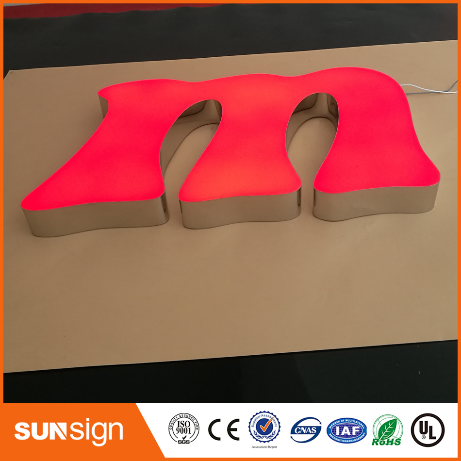 Wholesale Stainless Steel Frontlit Epoxy Resin Led Letter Signs