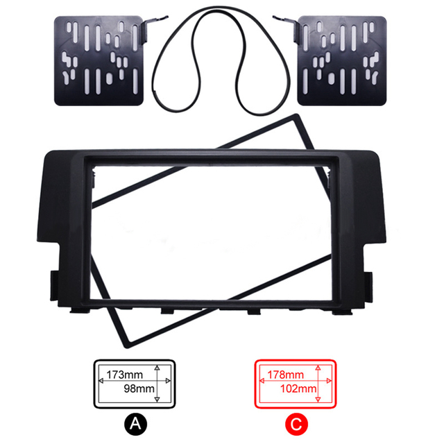 Touch Screen Car DVD Frame for Honda Civic Android Auto Stereo ...